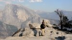 on the peak of North Dome, Yosemite National Park, Sierra Mountains,CA