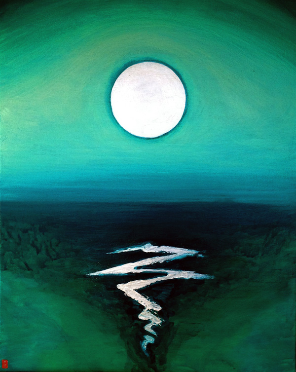 Moon Over Waves I (2013)